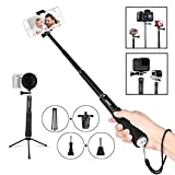 baby lock usb - Bluetooth Selfie Stick Monopod Remote Control Wireless Shutter Gopro Hero Camera iPhone Samsung Galaxy LG HTC Sony Moto and 3.5-6 inch Smartphone all Size all Brands Android 2.3 and ios 4 above BLACK