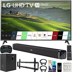 LG 75UM6970 75 inch HDR 4K UHD Smart IPS LED TV 2019 Model Bundle with Soundbar with Subwoofer, Wall Mount Kit Wireless…