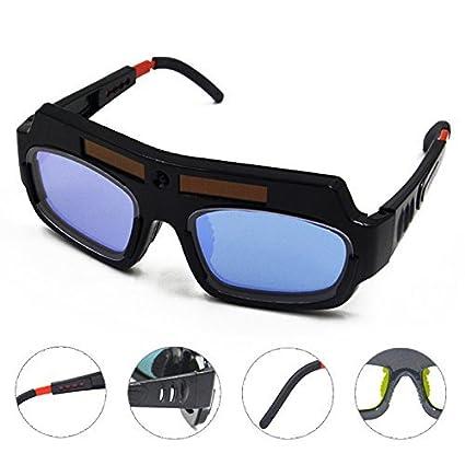 8189dcb7 Bluedophin Solar Powered Auto Darkening Welding Mask Helmet Goggle Welder  Glasses Arc PC Lens Great Goggles For Welding Protection - - Amazon.com