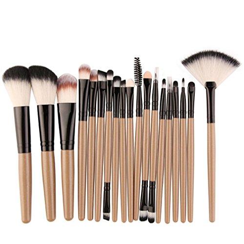 Pro 18-22Pcs Makeup Brushes Set Powder Foundation Blush Eyes