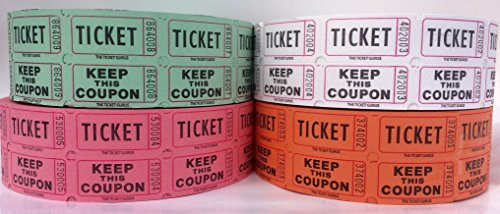 Ticket Guru-Raffle Tickets - (4 Rolls of 2000