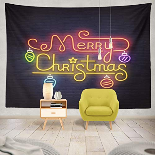 ASOCO Happy Merry Christmas Neon Sign Night Party Bright Signboard Light Banner]()