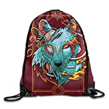 Robotwolf Music Cool Drawstring Travel Sports Backpack Gift
