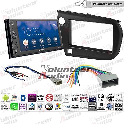 Volunteer Audio Sony XAV-AX1000 Double Din Radio Install Kit with Apple Carplay, Bluetooth, Sirius XM Ready Fits 2010-2013 Honda Insight