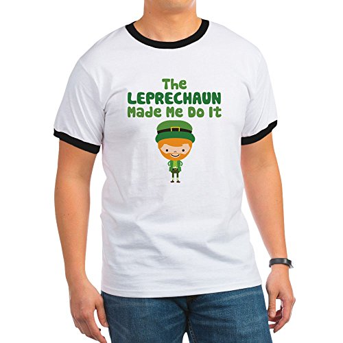 Leprechaun Ringer - CafePress Leprechaun Made Me - Ringer T-Shirt, 100% Cotton Ringed T-Shirt, Vintage Shirt