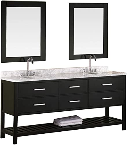 Luca Kitchen Bath LC72BEW Valencia 72 Double Vanity Set