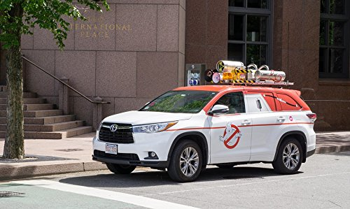 Home Comforts Peel-n-Stick Poster of Traffic Ghost Buster Ghost-Busters Road Wagon Poster 24X16 Adhesive Sticker Poster Print