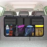 EldHus Trunk Organizer Car Storage - Auto Organizer for SUV Van Container Car Organization Collapsible Compartment Pocket Mesh