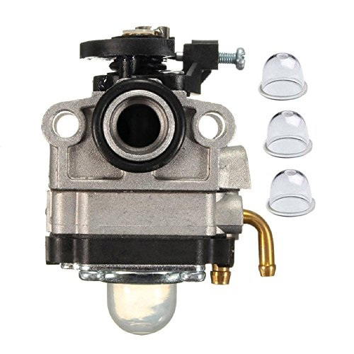 JR PARTS Carburetor with Primer Bulb for MTD Troy-Bilt Ryobi Yard Man Bolens Trimmer Tiller 753-04745 753-04296 753-1225