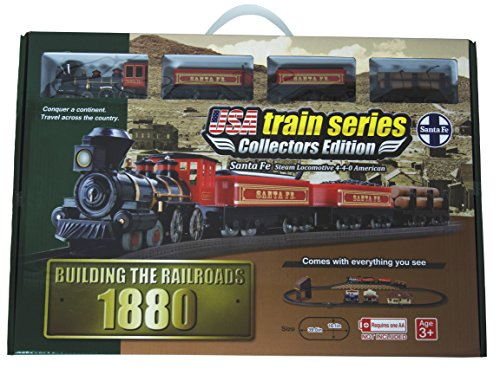e Steam Locomotive 4-4-0 American Battery Operated Train Set ()