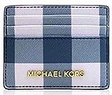 Michael Kors Jet Set Travel LG Card Holder Navy/Denim/White
