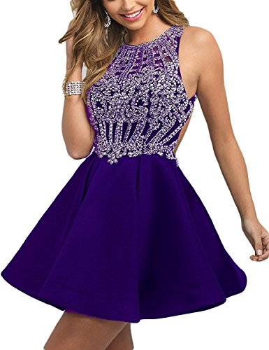 Fanciest A Violett Linie Damen Kleid 474frFq