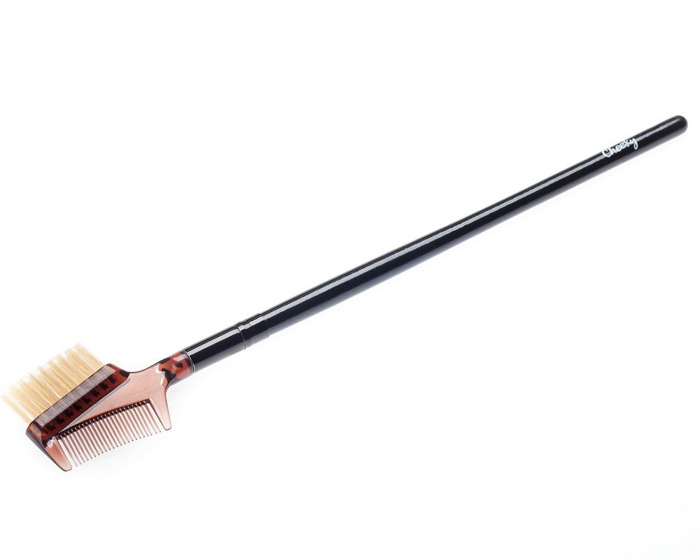 Best Quality Professional Make Up Artists Cosmetics Wooden Handle Eyelash & Eyebrow Brush And Comb In One By VAGA