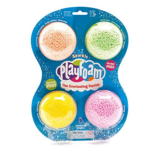 - Educational Insights Playfoam Sparkle 4-Pack - Sensory, Shaping Fun