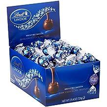 Lindt LINDOR Dark Chocolate Truffles, 60 Count Box ,25.4 oz