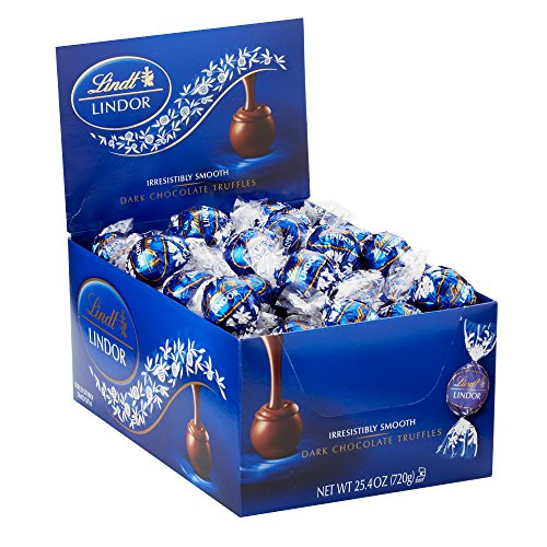 Box Dark Chocolate Truffles - Lindt LINDOR Dark Chocolate Truffles, Kosher, 60 Count Box
