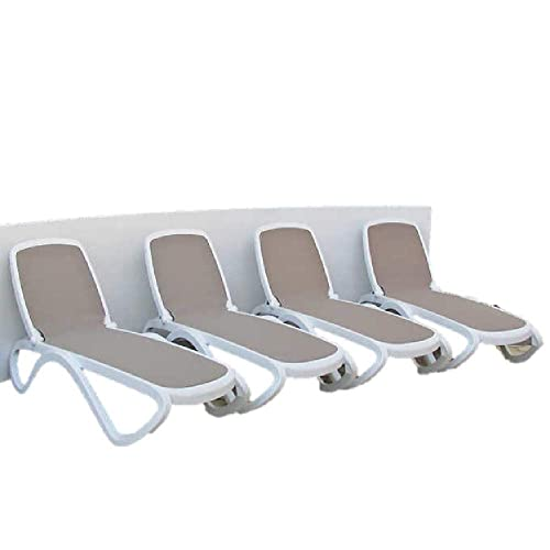 Omega Commercial Chaise Lounge Chair, 4-Pack