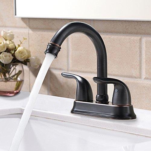 bathroom sink faucet bronze - 5