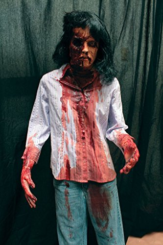 BACK FROM THE GRAVE Gory Female Zombie Standing Figure | Halloween Prop The Walking Dead Haunted House Corpse ()