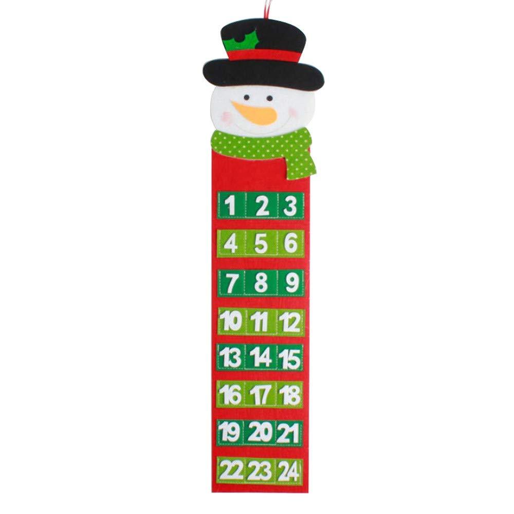 Cuenta atr/ás Hairy Man VICKY-HOHO Calendario Festival Navidad Calendario de Pared Calendario de adviento