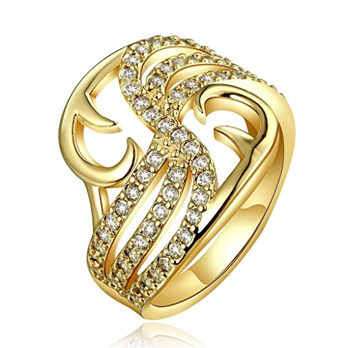 AmDxD Gold Plated Women Rings Gold Princ - Ultra Diamonds White Gold Necklace Shopping Results