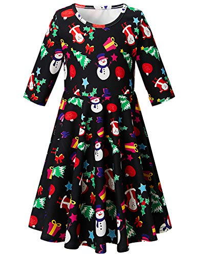 BFUSTYLE Girl Print Dress Sleeveless Casual Floral Sundress for Girls 4-13 Years