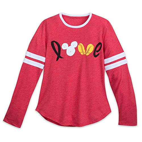 Disney Mickey Mouse Long Sleeve Love Shirt for Women Size Ladies L Multi -