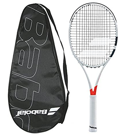 c9c4fe31a Buy Babolat 2018 Pure Strike 98 16x19 - STRUNG with COVER - Tennis Racquet  Online at Low Prices in India - Amazon.in