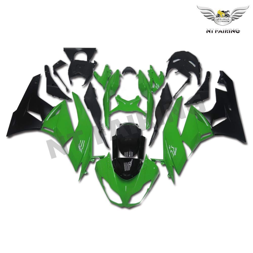 NT FAIRING Green Black Fairing Fit for KAWASAKI NINJA 2009-2012 ZX6R 636 New Injection Mold ABS Plastics Bodywork Body Kit Bodyframe Body Work 2010 ...