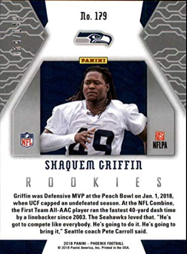 Amazon.com  2018 Panini Phoenix Purple  179 Shaquem Griffin Rookie  149 Seattle  Seahawks RC NFL Football Trading Card  Collectibles   Fine Art 8f7c21cd2