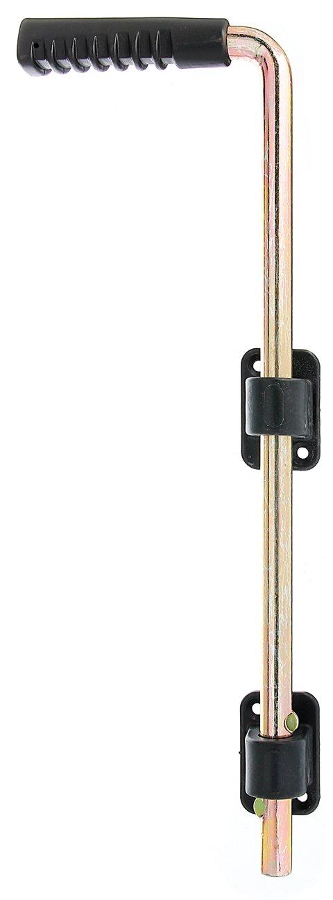 GAH-Alberts 207021 Bodenschieber mit zwei schwarzen Kunststofff/ührungen und Kunststoffgriff Bolzen-/Ø: 16 mm 400 mm // 40 mm galvanisch gelb verzinkt
