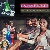 LED Coaster,12 Pack Light Up Coasters,LED Bottle