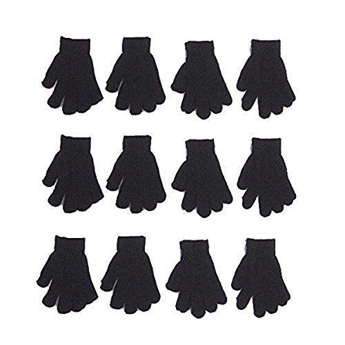 FoMann Kids Magic Gloves Children Knit Gloves Wholesale 12 Pairs(2 to 6 years)