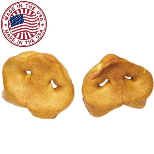 Image of Pig Snouts for Dogs (50 Pack), Bulk Dog Dental Treats & Natural Pork Dog Chews, Made in USA, American Made