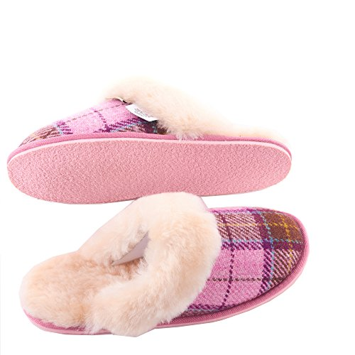 Tartan Ladies Slippers Harris Paw Pink Tweed Snow By rqntRqa