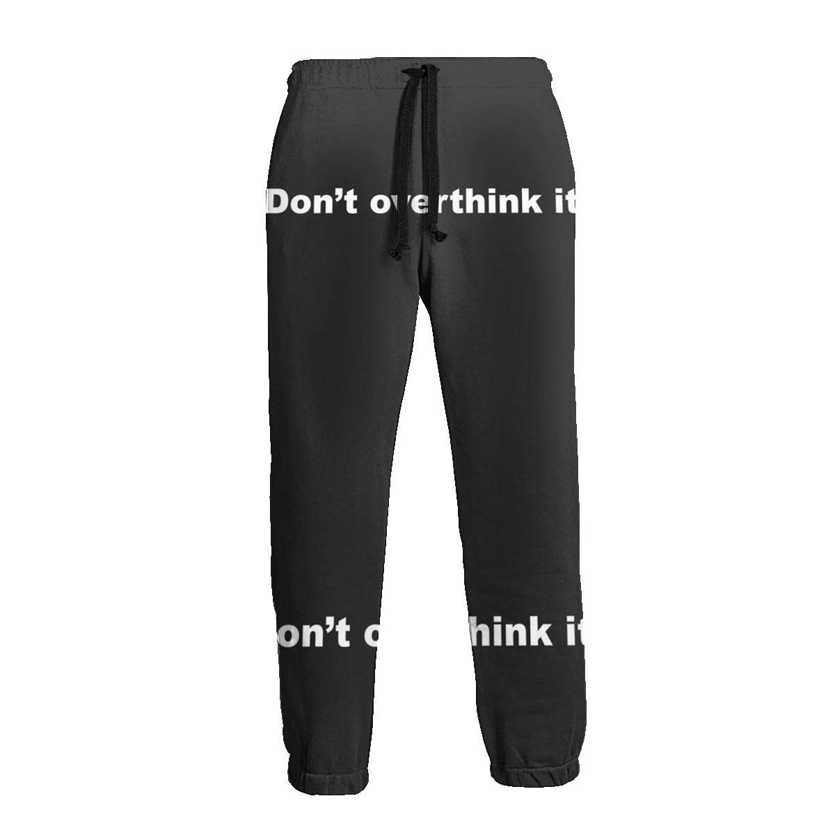 Panib Mens Big and Tall Gym Sweats Dont Overthink It Sweatpants with Side Pockets