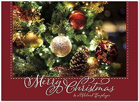 Christmas Greeting Cards Design.Amazon Com 25 Employee Christmas Cards Beautiful Ornament
