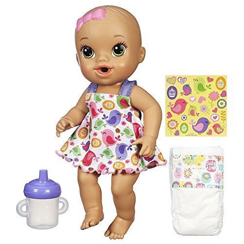 Baby Alive Sips 'n Cuddles Brunette, Modern Outfit (Diapers And Food For Baby Alive compare prices)