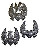 Heart with Wings, Flaming Heart, Flying Heart, (Set for sale  Delivered anywhere in USA