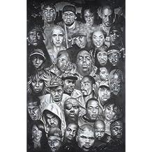 Rap Gods (Rapper Collage) Music Poster Print - 24x36