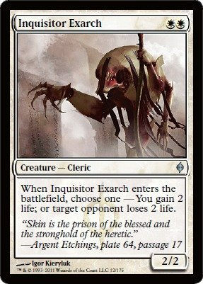 Magic: the Gathering - Inquisitor Exarch - New Phyrexia