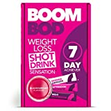 Boombod Weight Loss Shot Drink, Glucomannan, High Potency, Diet & Exercise Enhancement, Promote Fat Loss, Keto & Vegetarian Friendly, Sugar & Aspartame Free, Gluten-Free | Blackcurrant Flavor