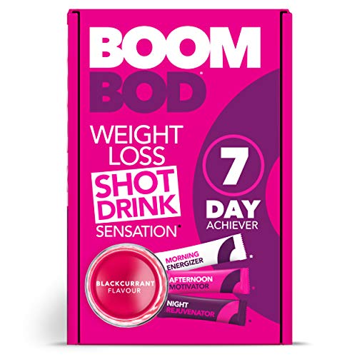 (Boombod Weight Loss Shot Drink, Glucomannan, High Potency, Diet and Exercise Enhancement, Promote Fat Loss, Keto and Vegetarian Friendly, Sugar and Aspartame Free, Gluten-Free - Blackcurrant Flavor)