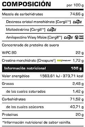 Carbohidratos MONSTER GAINER 2200 - Suplementos Alimentación y Suplementos Deportivos - Vitobest (Chocolate, 3,5 Kg)