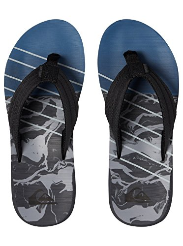 Quiksilver Men's Carver Print Beach and Pool Shoes Black/Grey/Blue 9nNqH