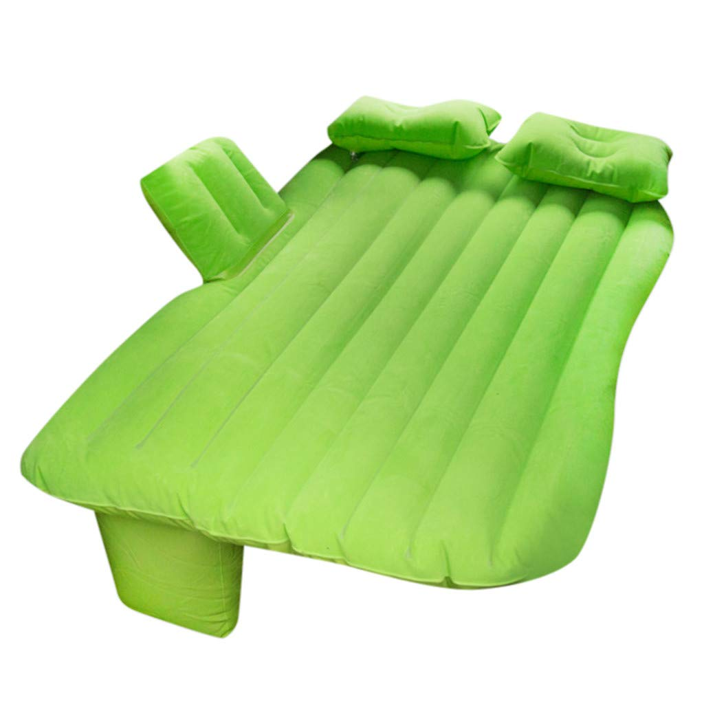Dacawin Car Airbed Portable Inflatable Car Air Mattress - Camping Travel Car Back Seat Car Airbed - Compact Twin Size Inflation Bed with Two Air Pillows and Inflatable Pump (Green