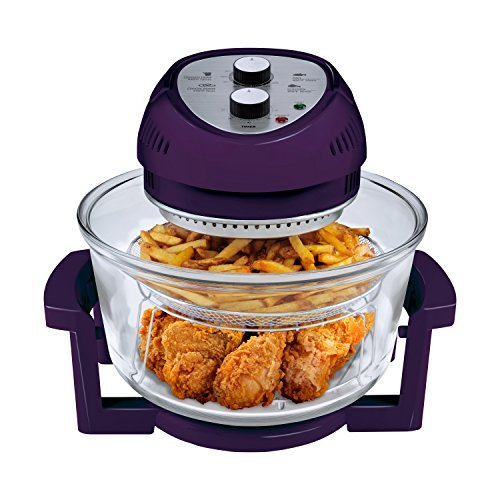 big boss 1300 watt oil less air fryer 16 quart purple kitchen appliances  amazon com  rh   amazon com