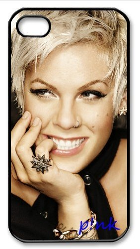 P!nk Signed HD image case cover for iphone 4/4S black well-designed gift