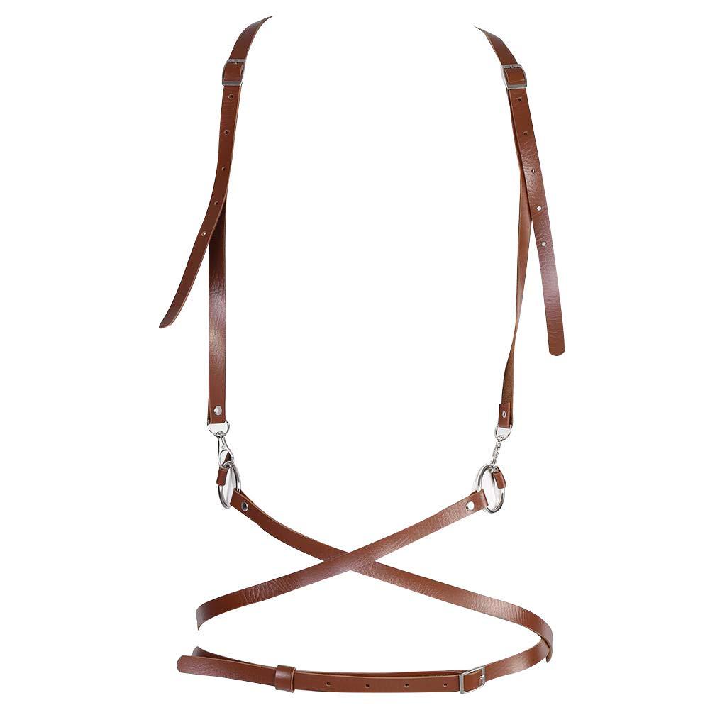 FTVOGUE Fashionable Sexy Harness Waist Belt with Shoulder Straps Suspenders Body Belts