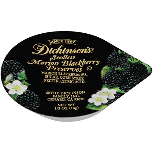 Dickinson Seedless Blackberry Preserves, 1/2 Ounce - 200 per case.